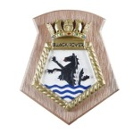 Black Rover - RFA - Royal Fleet Auxiliary - Ship Badge / Plaque / Crest