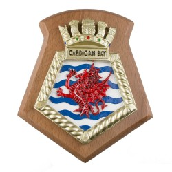 Cardigan Bay - RFA - Royal Fleet Auxiliary - Ship Badge / Plaque / Crest