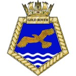 Gold Rover - RFA - Royal Fleet Auxiliary - Ship Badge / Plaque / Crest